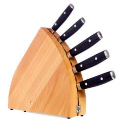 Yaxell knivblok med 5 knive på TILBUD.