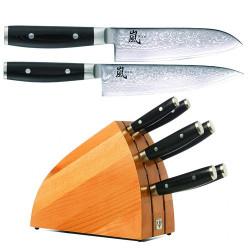 Yaxell knivblok med 6 knive på TILBUD.