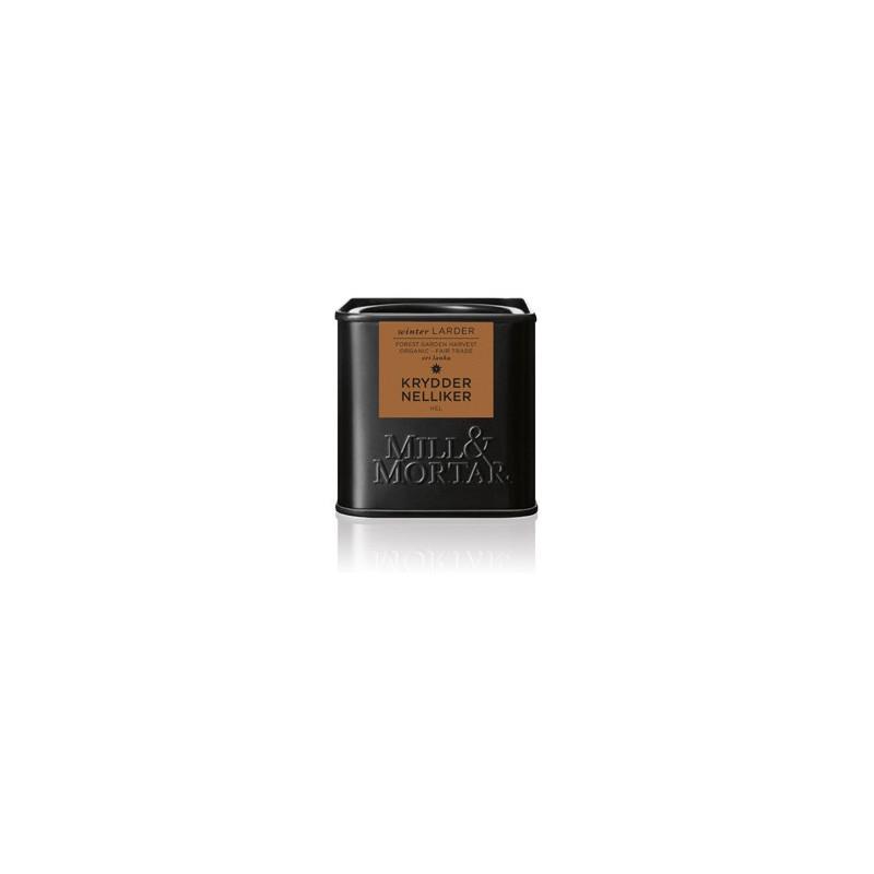 Mill og Mortar økologiske kryddernelliker.