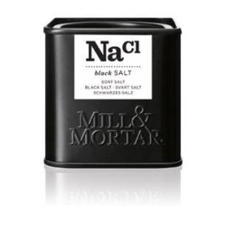 Mill og Mortar sort salt.