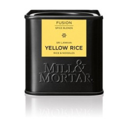 Mill og Mortar Yellow rice.
