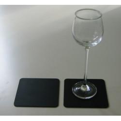 SEJ Design glasbrikker i sort gummi.