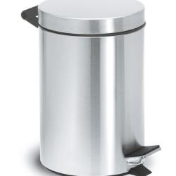 Blomus toiletspand i børstet stål.