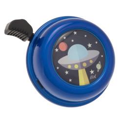LIIX ringeklokke. Blå med ufo.