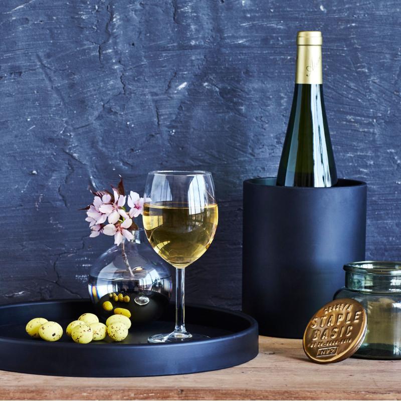 Sej Design redskabs krukke eller vase i sort gummi.