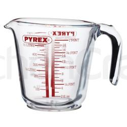 Pyrex ½ liter mål i glas.