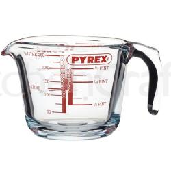 Målebæger i glas fra Pyrex.