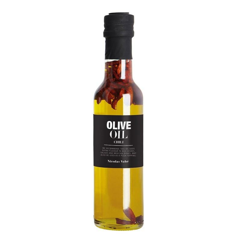 Nicolas Vahé delikatesser. Olivenolie med chili.