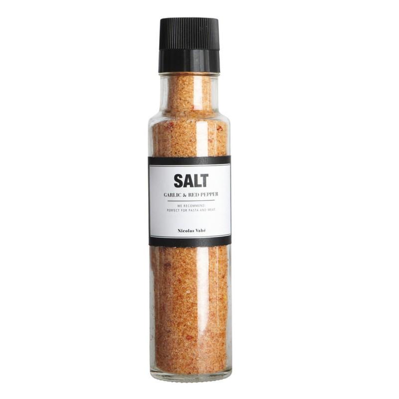 Nicolas Vahé delikatesser. Salt med chili og hvidløg.