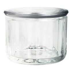 Saltkar i glas med låg.