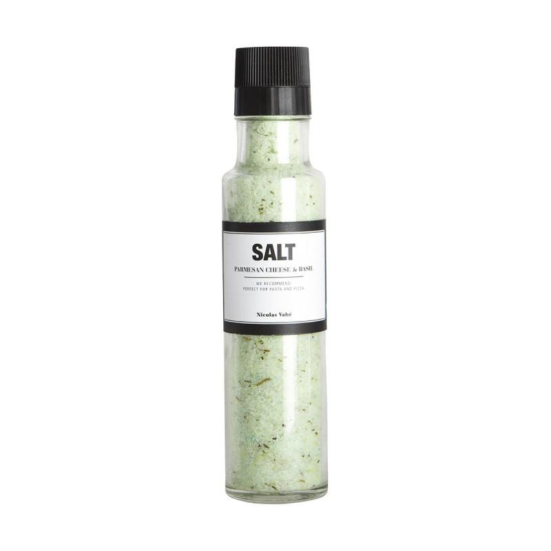 Nicolas Vahé delikatesser. Salt med parmesan og basilikum.