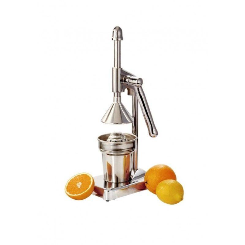 Appelsin juice presser med håndtag.