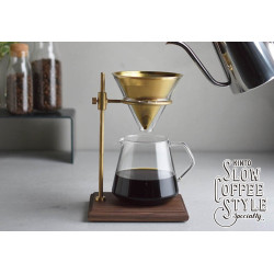 Kinto Slow coffee med stander.