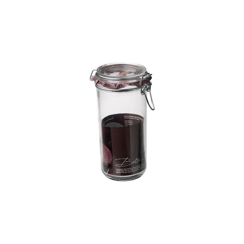 Christian Bitz opbevarings glas med patentlukning. 450 ml.