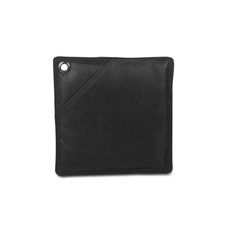 Stuff Design grydelapper i sort læder.