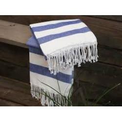 Hammam håndklæde eller dug. Blå.