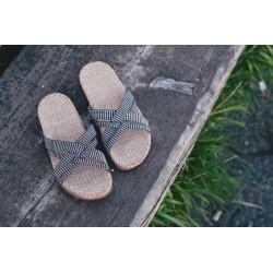 Shangies sandaler. Sort / hvid