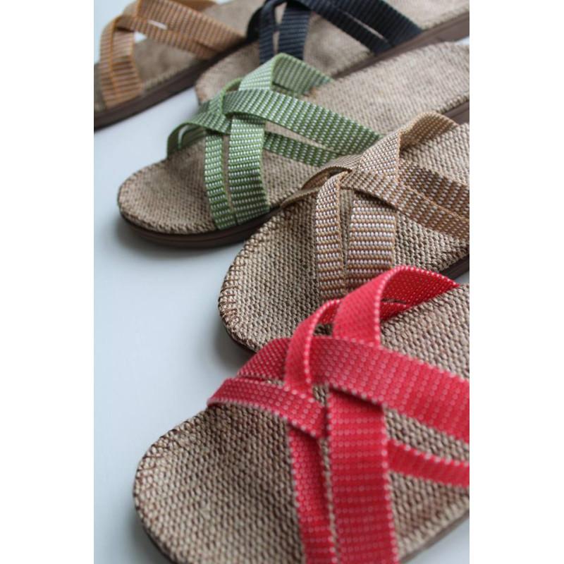 Shangies sandaler. Green Leaves.